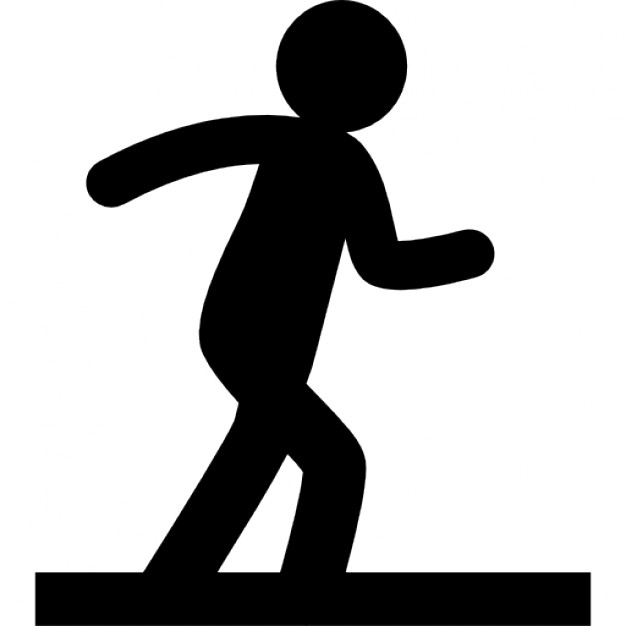 626x626 Person Silhouette In Walking Position On A Floor Icons Free Download