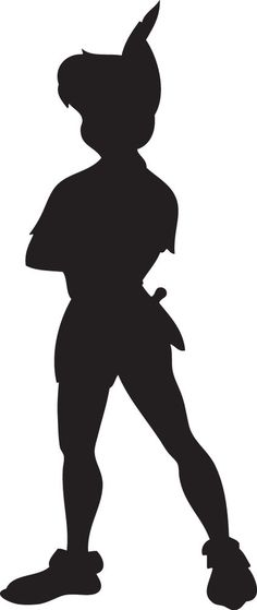 236x559 Peter Pan Silhouette Peter Pan And Tinkerbell Baby Shower