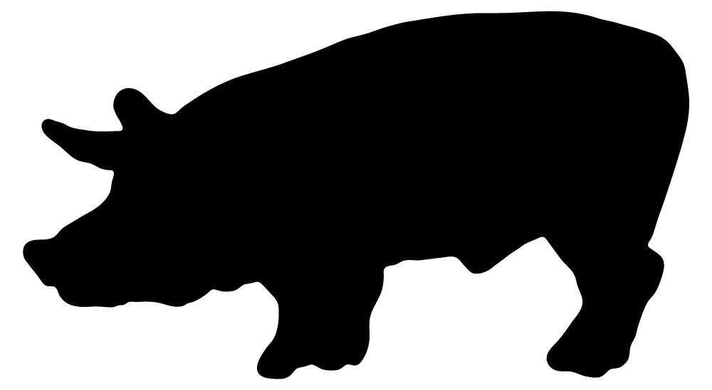 1000x549 Animal Silhouette Pig Style 28