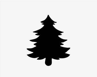 340x270 Pine Tree Stencil Etsy