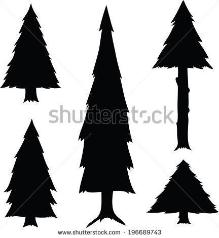 432x470 Cartoon Pine Tree Silhouette Simple Living Tree In The World Places