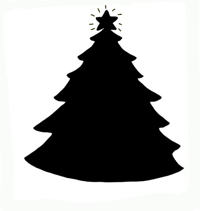 686x726 Christmas Tree Clipart Silhouette