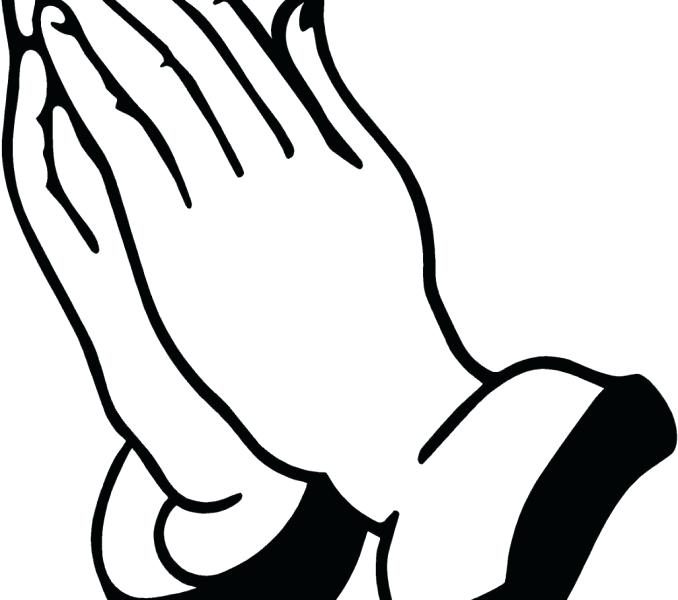 678x600 Picture Of Praying Hands To Color Silhouette Prayer Hand Designed