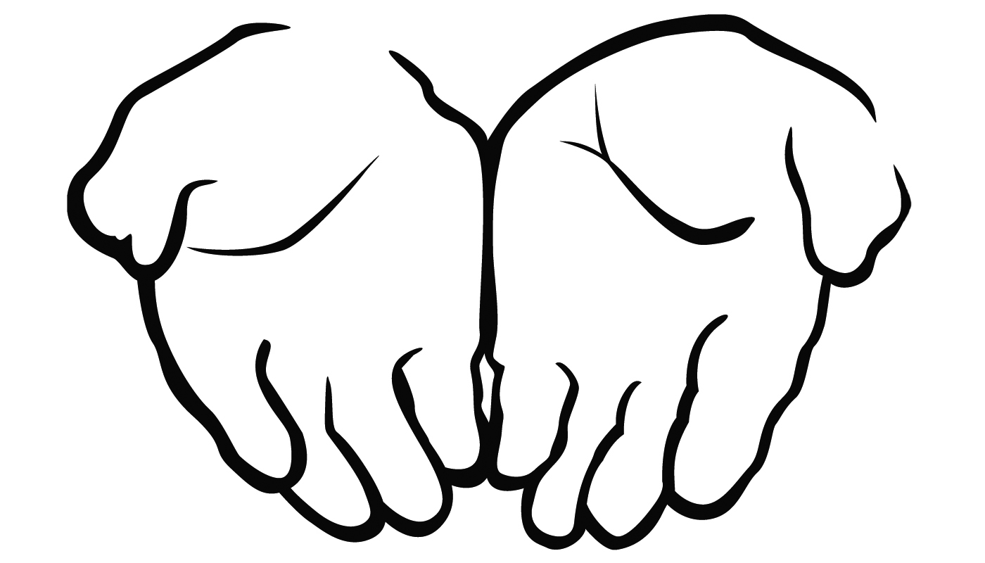 1400x800 Praying Hands Silhouette Clipart