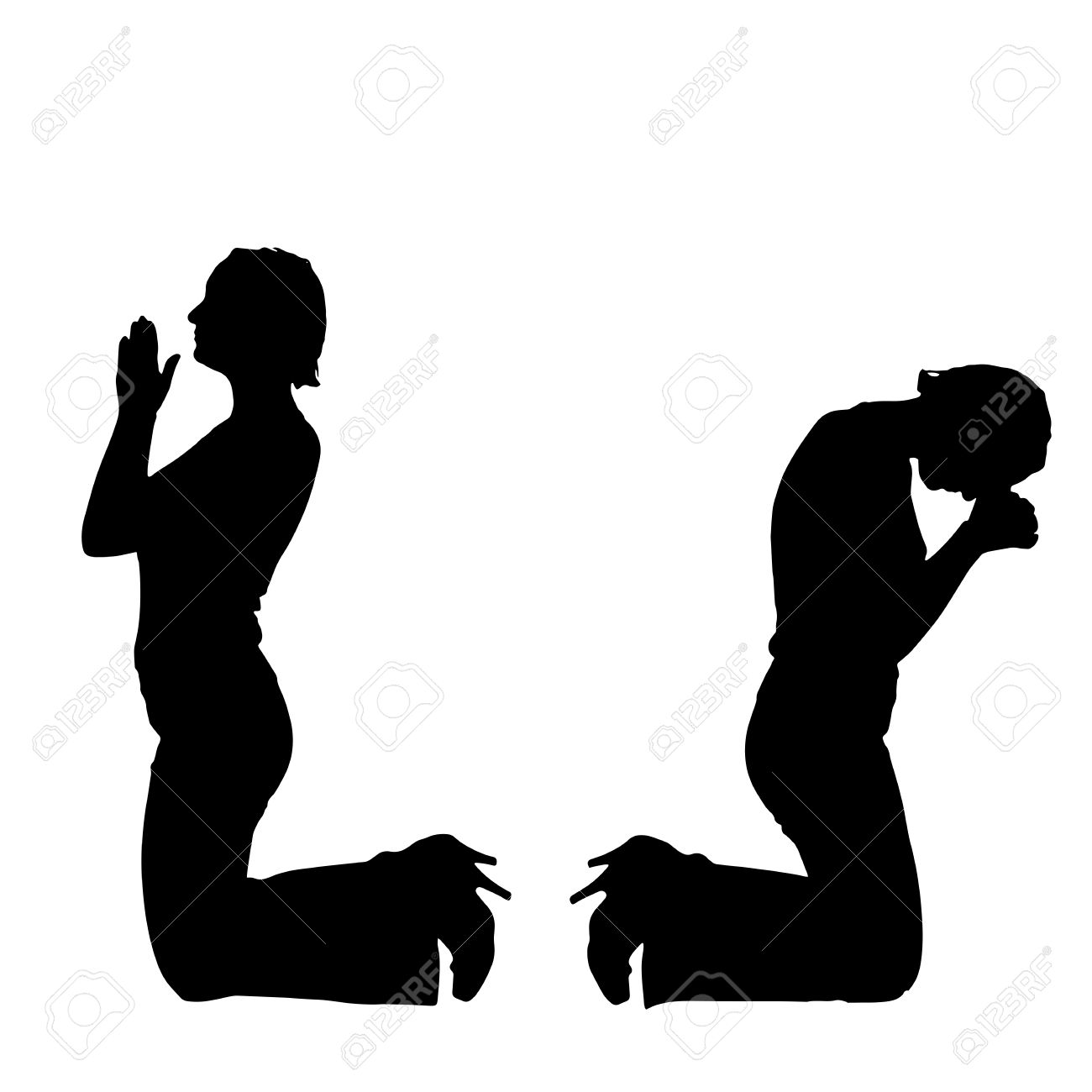 1300x1300 Silhouette Of A Woman Praying Clipart