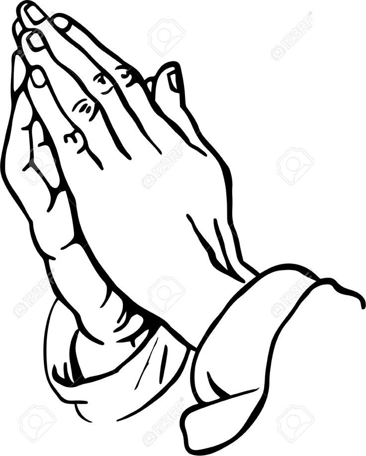 736x917 Cross Silhouette And Praying Careing Hands Vector Stock Image