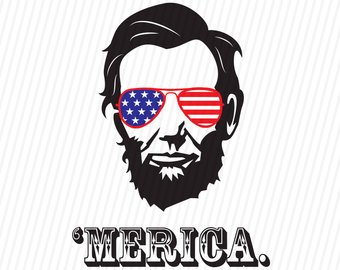 340x270 President Abraham Lincoln Merica 4th Of July Svg Dxf