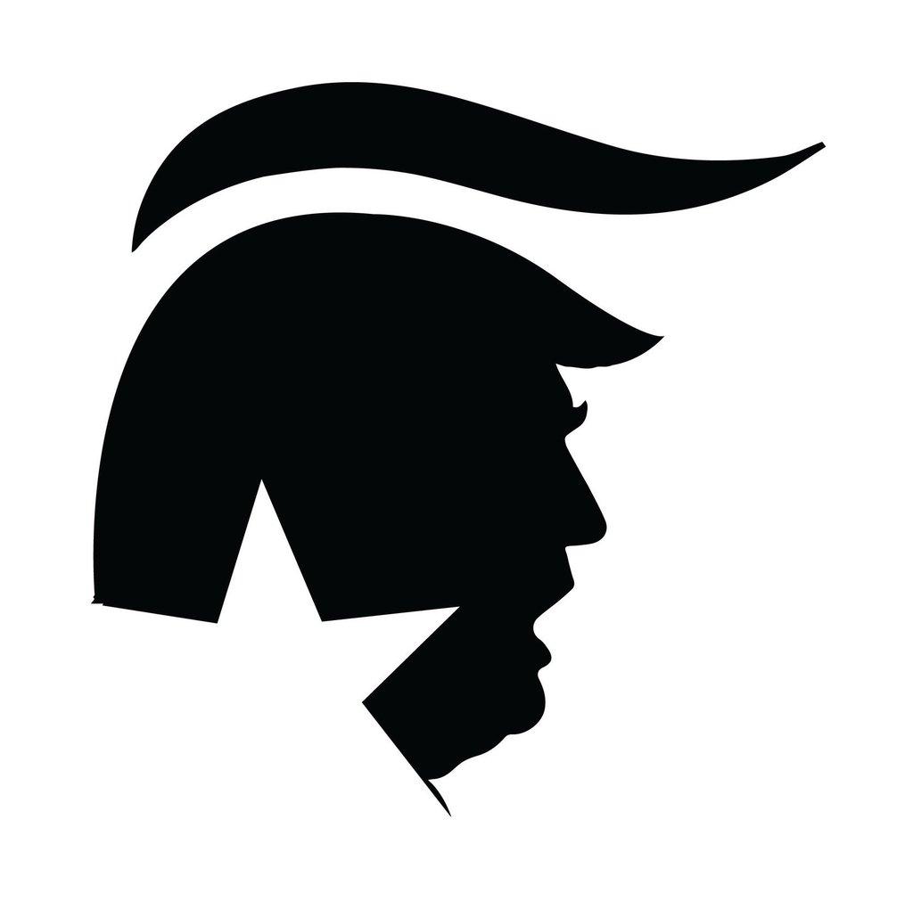 1024x1011 President Donald Trump Car Bumper Or Window Sticker Campaign. Make