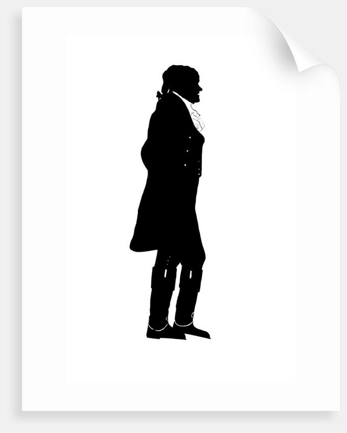 682x850 Silhouette Of President Thomas Jefferson. Posters Amp Prints By John