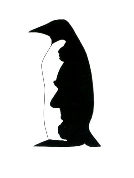 444x586 Or Penguin Illusion
