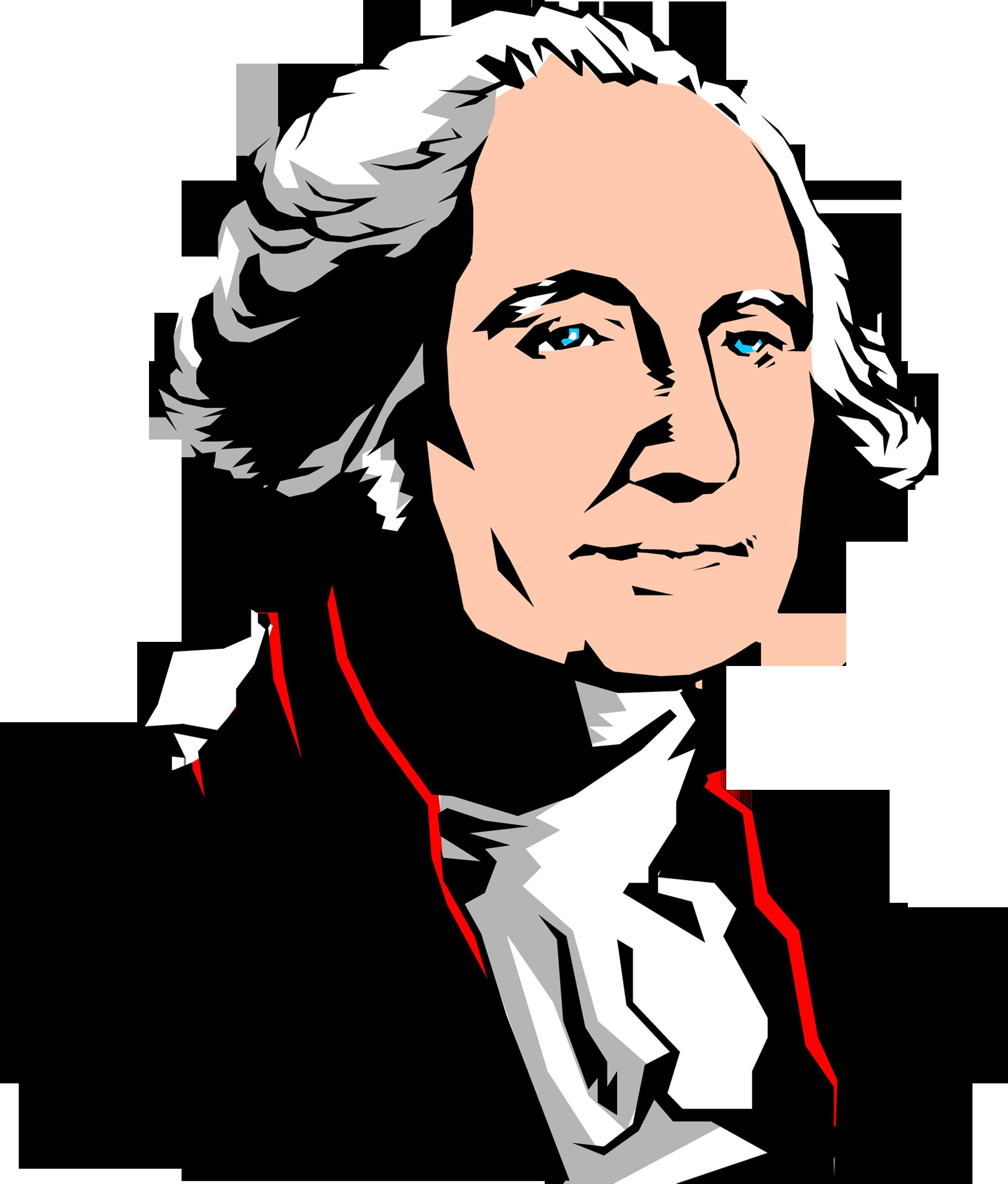 2043x2400 George Washington Silhouette Clipart