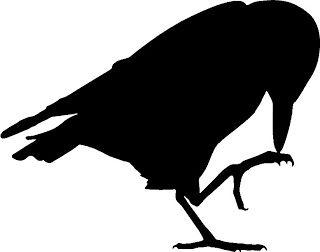 320x252 Halloween Crafts] Raven Silhouette Halloween Crafts