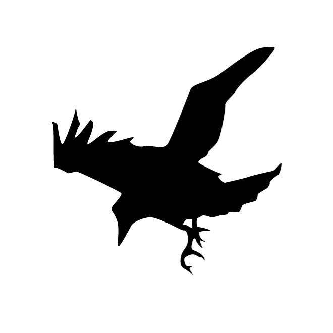 660x660 Raven Silhouette