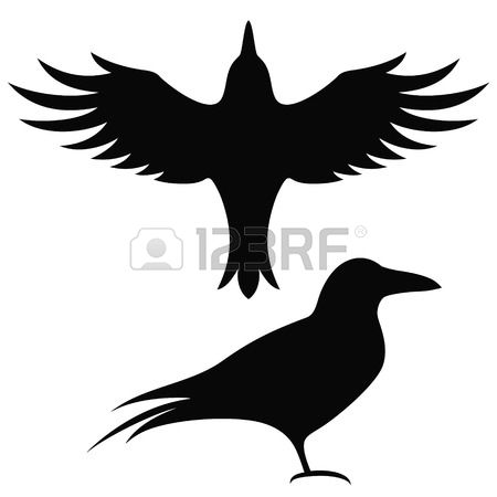 450x450 Raven Clipart Silhouette 3840785
