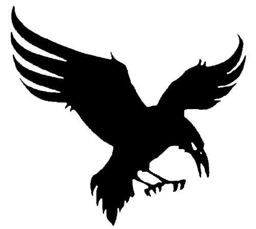 500x447 Raven In Flight Silhouette