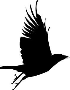 236x300 Silhouette Clipart Raven Silhouette Clip Art Download Free
