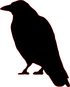 240x297 Crow Silhouette Clip Art Cutout For Halloween Halloween