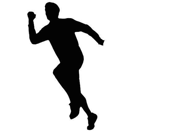 595x429 Man, Gentleman, Outline, Sprinter, Runner, Silhouette, Race