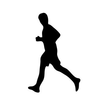 340x340 Free Silhouette Vector Run, Sports, Icon
