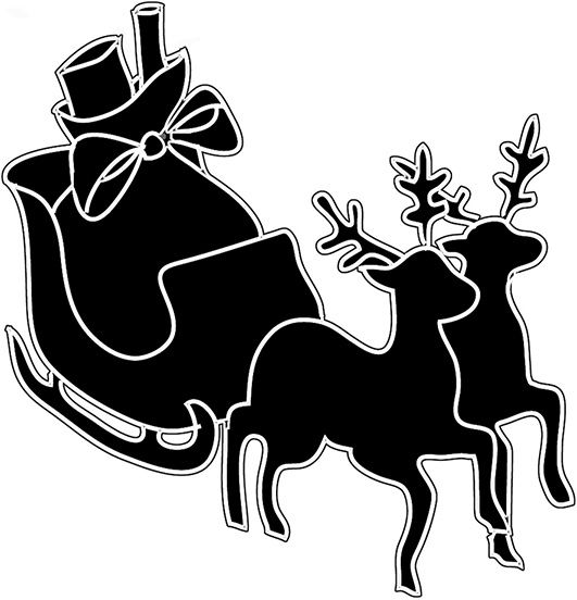 531x552 Christmas Sleigh And Reindeer Clip Art Clip Art