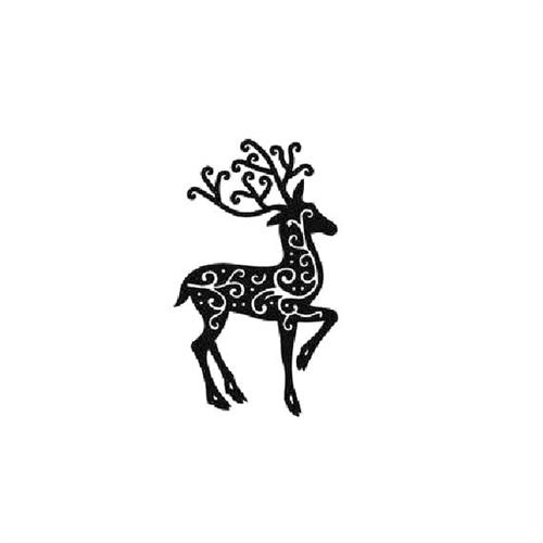 500x500 Christmas Holiday Reindeer Silhouette