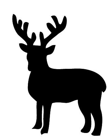 345x440 Christmas Silhouettes Black Reindeer.jpg Pixels Winter