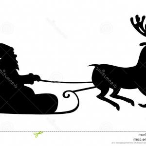 300x300 Stock Illustration Christmas Silhouette Santa Claus Riding