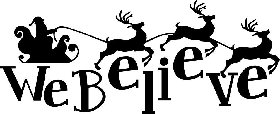956x392 We Believe Santa's Sleigh Amp Reindeer Christmas Quote Christmas