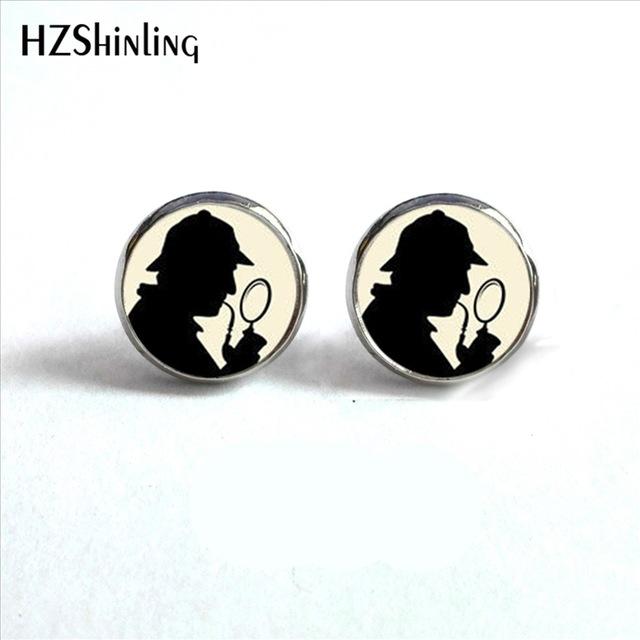 640x640 Ed 0027 New Arrival Sherlock Holmes Earrings Steampunk Sherlock