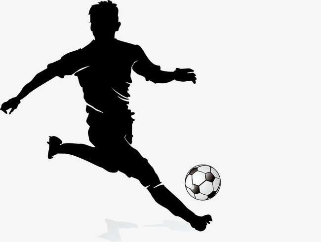 650x491 Football Player Silhouette, Soccer Player, Football, Sketch Png