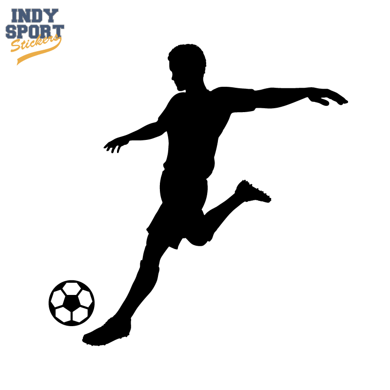 800x800 Soccer Player Silhouette Kicking Ball Decal Or Sticker For Your
