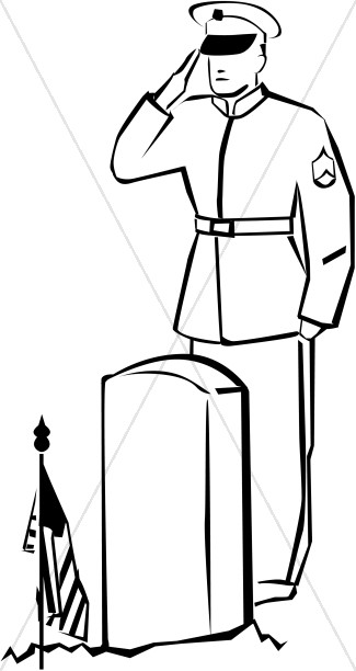 325x612 Soldier Salute Clipart