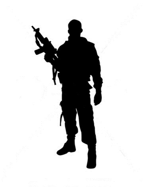 460x600 Soldiers Clipart Silhouette