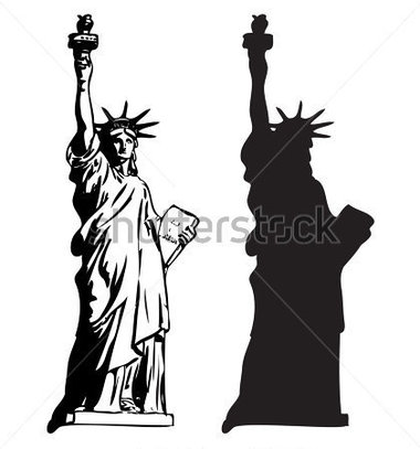 380x407 Statue Of Liberty Silhouette Clipart