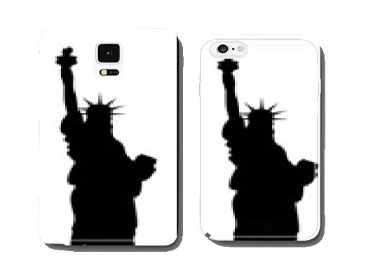 522x392 Statue Of Liberty Vector Black Silhouette Mobile Phone Cover Pare