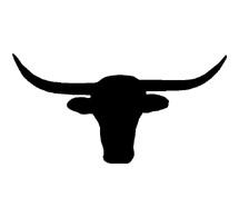 215x195 Texas Longhorn Silhouette Clipart