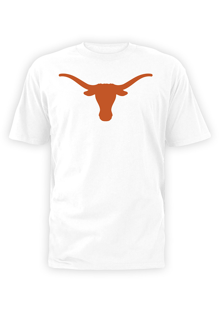 700x1000 Texas Longhorns Youth White Silhouette Short Sleeve T Shirt