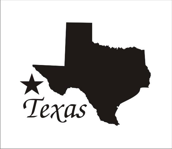 552x477 Texas Silhouette Stencil Star 5 Sizes