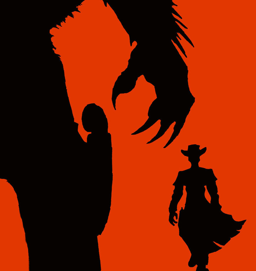 869x919 Death And Texas Silhouette By Cybopath