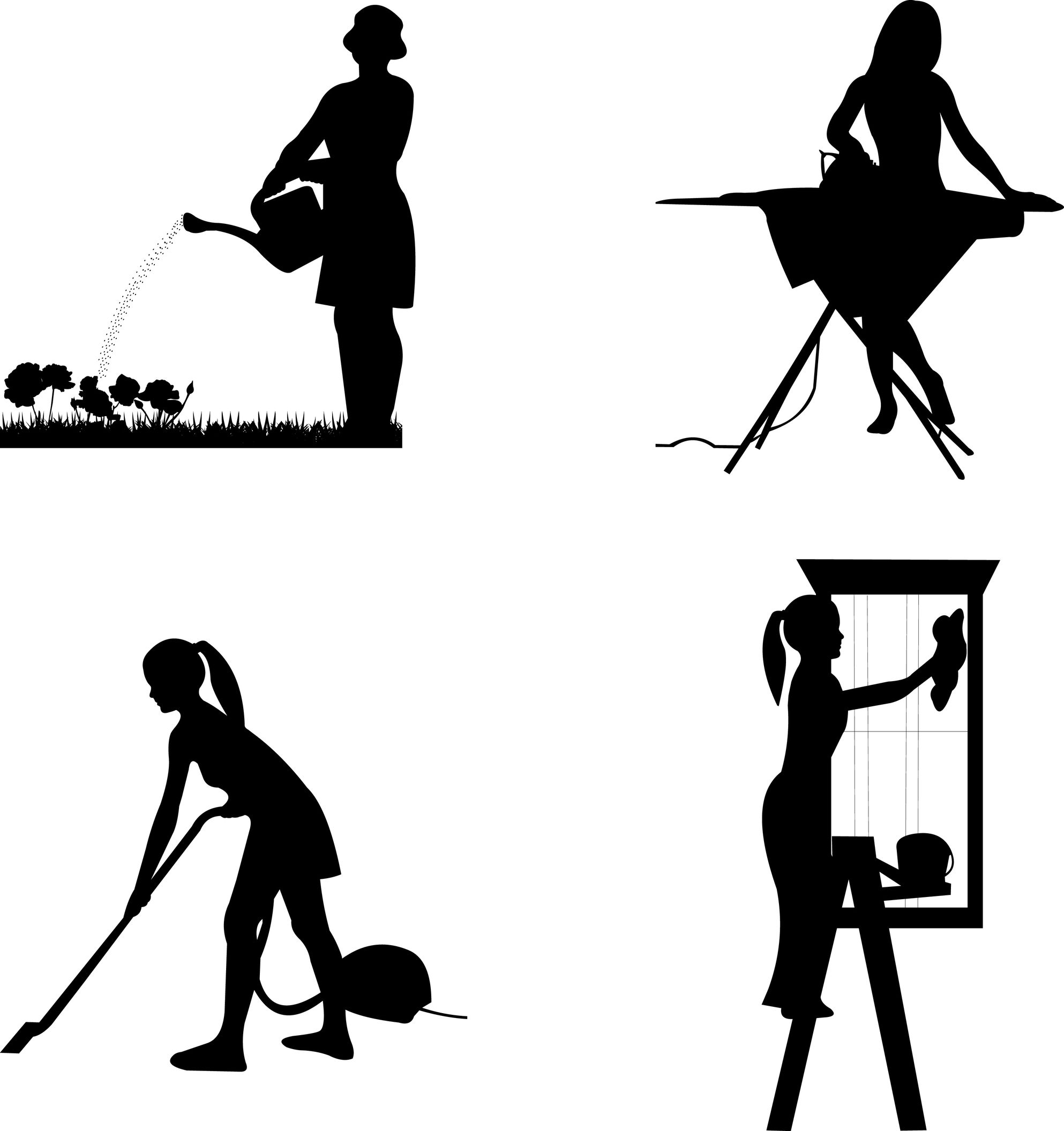 1986x2112 Cleaning Services Black And White Clipart