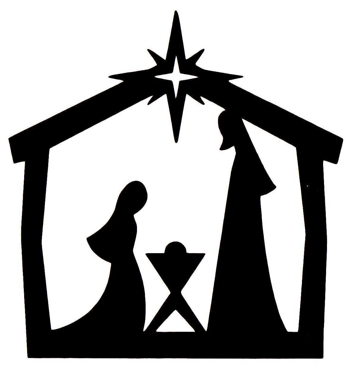 1182x1239 10 X Christmas Die Cut Nativity Silhouettes In Black Nativity