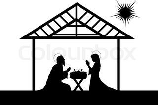 320x213 Nativity Scene Of Baby Jesus In The Manger The Virgin Mary