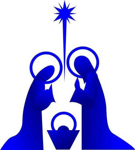 451x500 4888 Free Clip Art Nativity Scene Silhouette