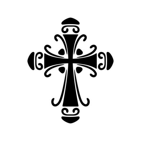 Silhouette Of Three Crosses