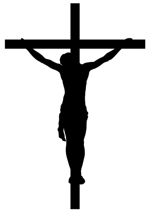 495x700 Jesus Christ Crucifiction Silhouette Wall Mural We