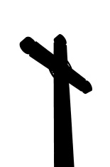 155x235 Silhouette Of Crosses And Tree At A Cemetery Stock Photos