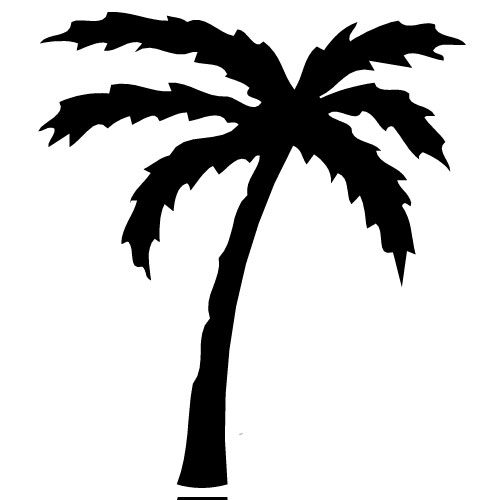 500x500 Palm Tree Silhouette Free Clipart Images