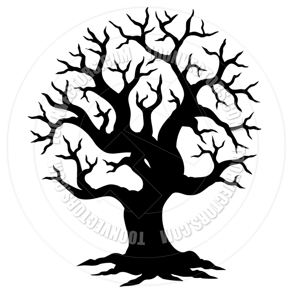 940x940 Cartoon Hollow Tree Silhouette By Clairev Toon Vectors Eps