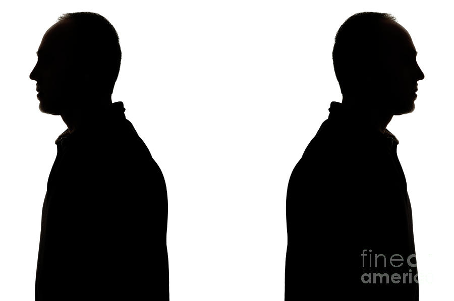 900x597 Silhouette Of Two Men Back To Back Photograph By Sami Sarkis