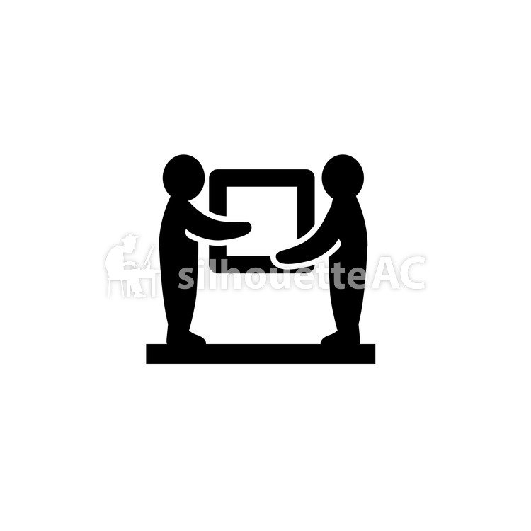 750x750 Free Silhouettes 2 People, Box, Icon